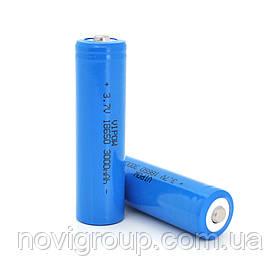 Акумулятор 18650 Li-Ion Vipow ICR18650 TipTop, 3000mAh, Blue