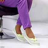 Невесомые женственные светлые салатовые текстильные тканевые балетки 2021, фото 2
