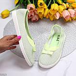 Невесомые женственные светлые салатовые текстильные тканевые балетки 2021, фото 6