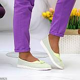 Невесомые женственные светлые салатовые текстильные тканевые балетки 2021, фото 7