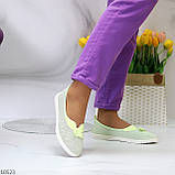 Невесомые женственные светлые салатовые текстильные тканевые балетки 2021, фото 8