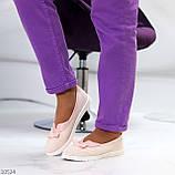 Невагомі жіночні рожеві пудрові текстильні тканинні балетки 2021, фото 2