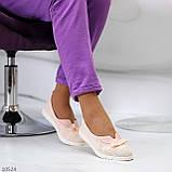 Невагомі жіночні рожеві пудрові текстильні тканинні балетки 2021, фото 7