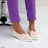 Невагомі жіночні рожеві пудрові текстильні тканинні балетки 2021, фото 9