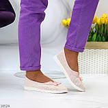 Невагомі жіночні рожеві пудрові текстильні тканинні балетки 2021, фото 10