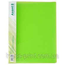 Папка-скоросшиватель Axent 1304-26-A, А4, зеленая