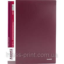 Папка-скоросшиватель Axent 1304-04-A, А4, бордовая