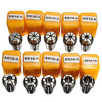 Набор из 10 цанг ER16 1-10мм для станка с ЧПУ