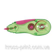 Корректор ленточный Axent 7006-02-A, 5 мм х 5 м, зелено-розовый