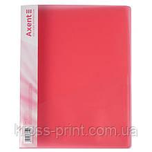 Папка-скоросшиватель Axent 1304-24-A, А4, красная