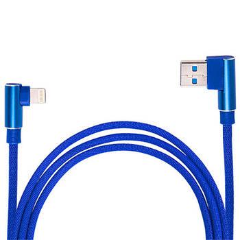 Кабель зарядки USB - Micro USB (Blue) 90° ((400) Bl 90°)