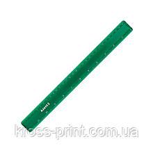 Линейка пластиковая Axent 7530-05-A, 30 см, зеленая