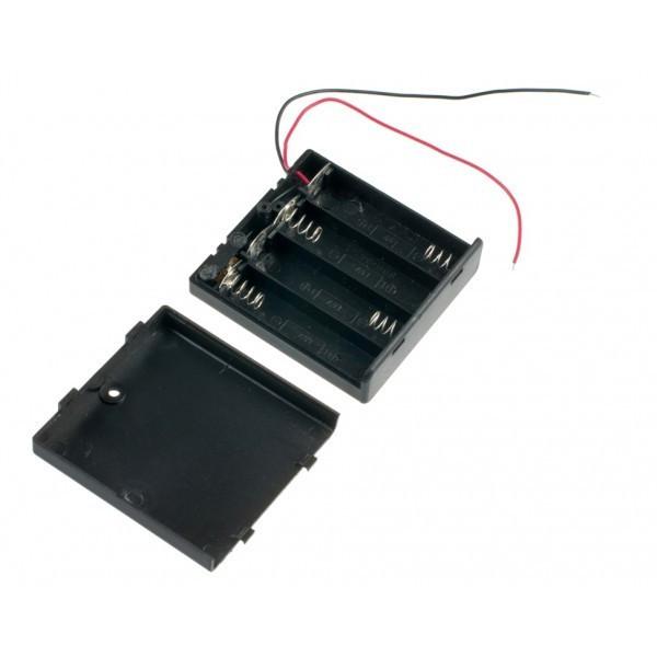 Бокс на 4 АА батареи, 6V кейс, питание Arduino