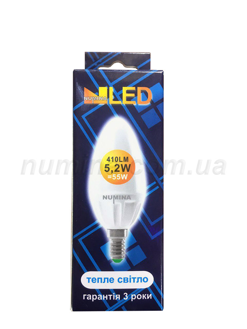 Светодиодная лампа свеча LAMP SL C37 5.2W(6W) E27 3000K