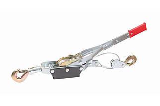 Лебедка рычажная Mastertool - 4 т, стальной трос 3 м (86-8022), (Оригинал)