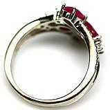 Срібне кільце з рубіном, 1728КР, фото 3