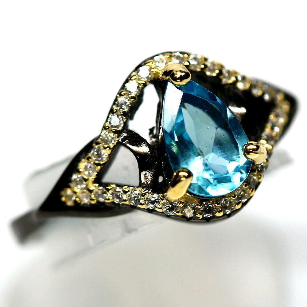 Серебряное кольцо с топазом, 1729КТ