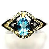 Серебряное кольцо с топазом, 1729КТ, фото 3