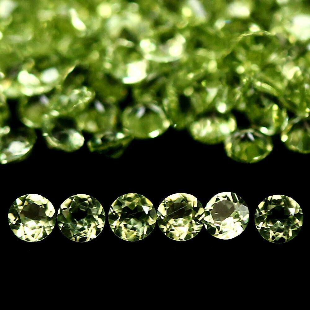 Кабошон Хризоліт (перідот, олівін), Ø1,8*1,1 мм, 5,11 карат, комплект 200 шт., 787КБХ