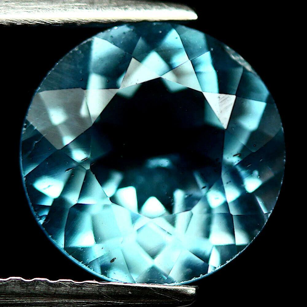 Кабошон топаз голубой Бразильский, Ø9 мм., 3,15 карат, 789КБТ