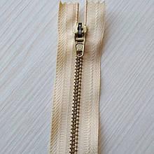 Застібка блискавка для штанів метал / 18см основа колір беж світлий