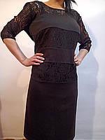 Черное платье на подкладке, 48 евро (Ликвидация склада, распродажа) Батал