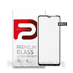Защитное стекло ArmorStandart Pro для Samsung A32 Black (premium glass)