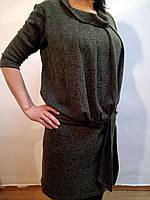 Теплое платье - туника с подкладкой, р 44 евро (Ликвидация склада, распродажа) шерсть/акрил 50%