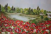 """Картина """"Макове поле"""", розмір 55 х 45"""