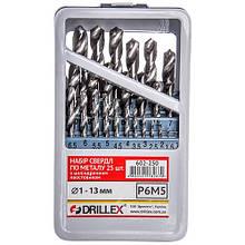 Набор сверл по металлу Р6М5  25шт.  1,0-13,0мм  НСВ2513