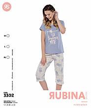 Пижама с капрями,PINK 3302