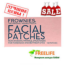 Frownies, Пластыри для лица, для кожи на лбу и между глазами, 144 пластыря, официальный сайт, FRW-13241