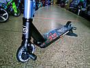 Самокат трюковой. Компрессия HIC с алюминиевыми дисками Бест Скутер Best Scooter с пегами для трюков, фото 3