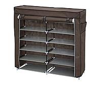 Складной тканевой шкаф органайзер HCX для хранения вещей и обуви T-2712 на 2 секции
