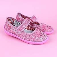 Тапочки в садик на девочку, текстильная обувь Vitaliya Виталия Украина размер 28,28.5,29