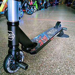 Самокат трюковой. Компрессия HIC с алюминиевыми дисками Бест Скутер Best Scooter с пегами для трюков
