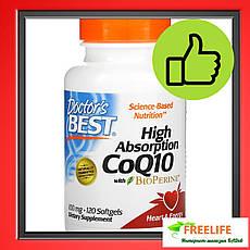 Коензим Q10, Doctor's s Best, Биоперин, 100 мг, 120 капсул, офіційний сайт