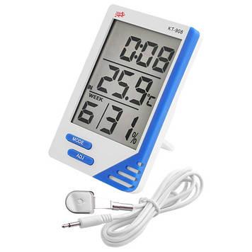 Термометр с гигрометром XBL KT908 Бело-синий (KT 908)