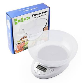 Весы кухонные Kitchen B05 чаша Белый (hub_eECS04422)