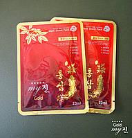 Маска для обличчя з червоного женьшеню корейського Gold My Jin