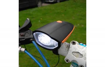 Велосипедний дзвінок + велофара FY-056
