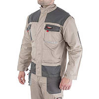 Куртка рабочая 2 в 1, 100 % хлопок, плотность 180 г/м2, S INTERTOOL SP-3031