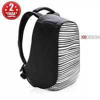 """Рюкзак протикрадій міської XD Design Bobby Compact 14"""", Zebra (P705.651), фото 1"""