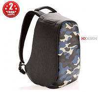 "Рюкзак антивор городской XD Design Bobby Compact 14"", Camouflage Blue (P705.655), фото 1"