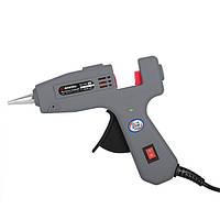 Пистолет клеевой 20(65)Вт, 230В, 180-195°C под стержни 7-7.5 мм, 5-13 г/мин., выключатель. INTERTOOL RT-1101
