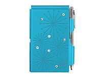 Карманный блокнот с ручкой Glitz Bright Blue