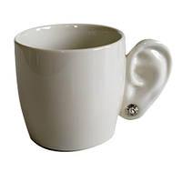 """Чашка """"Вухо"""", біла, фото 1"""