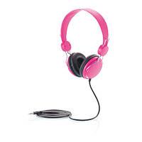 Навушники Super Style з довгим дротом (1,5 м), рожеві, фото 1