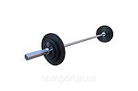 Штанга обрезиненная 50 кг с олимпийским грифом