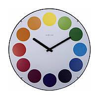 """Часы настенные """"Dots Dome"""", белые Ø35 см, фото 1"""